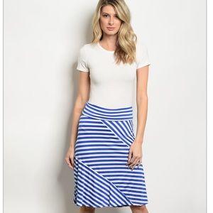 Dresses & Skirts - Royal Blue & White Striped Skirt